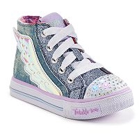 Skechers Twinkle Toes Shuffles Flutter Up Toddler Girls' Light-Up Shoes