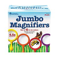 Learning Resources Primary Science Jumbo Magnifiers 6 pc Magnifying Glass Set