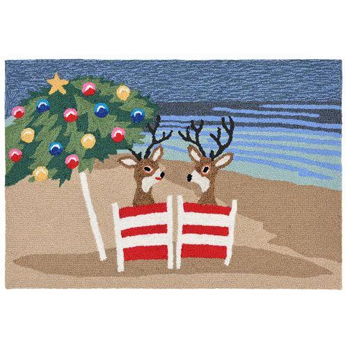 Liora Manne Frontporch Coastal Christmas Indoor Outdoor Rug