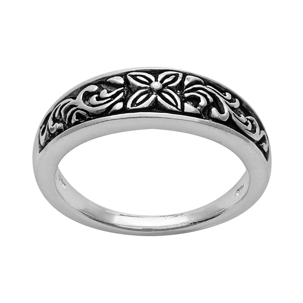 Silver Plated Flower Ring