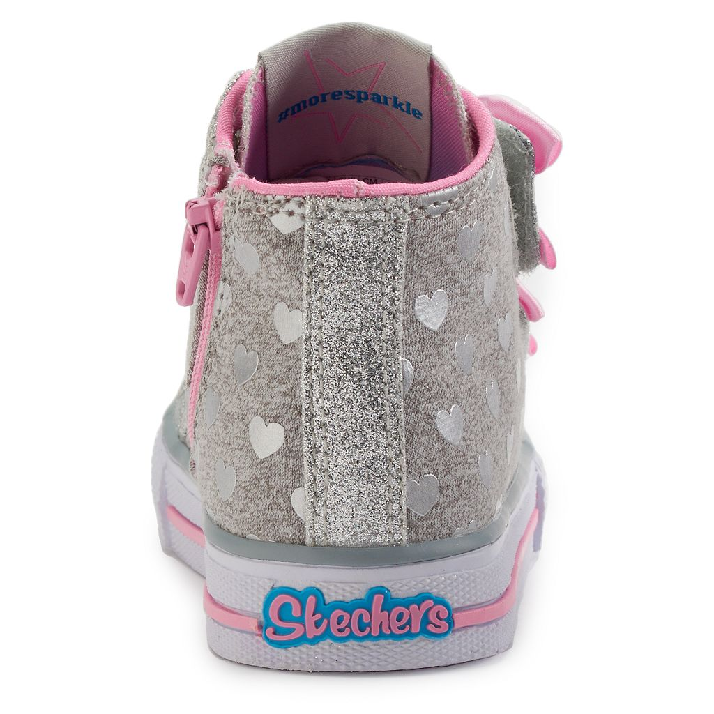 Skechers Twinkle Toes Shuffles Doodle Day Toddler Girls' Light-Up Shoes