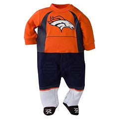 Baby Denver Broncos Team Uniform Footed Sleep & Play