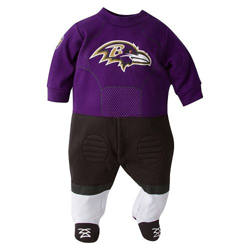 Baby Baltimore Ravens Team Uniform Footed Sleep & Play