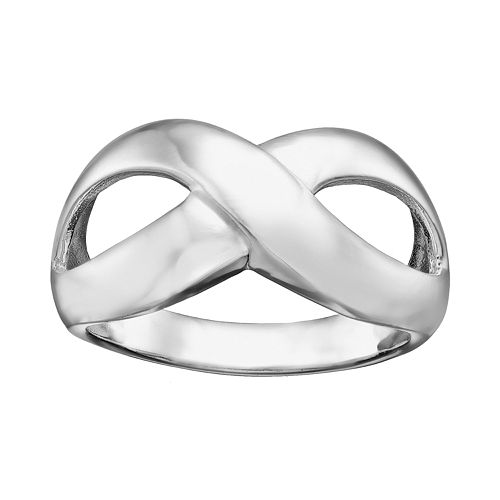 Silver Plated Infinity Ring