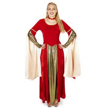 Adult Red Velveteen Renaissance Dress Costume