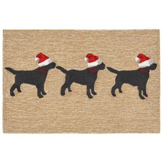 Trans Ocean Imports Liora Manne Frontporch Three Dogs Christmas Indoor Outdoor Rug