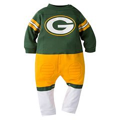 Baby Green Bay Packers Team Uniform Coverall