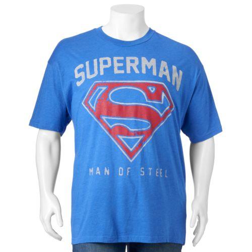 """Big & Tall DC Comics """"Superman Man of Steel"""" Tee"""