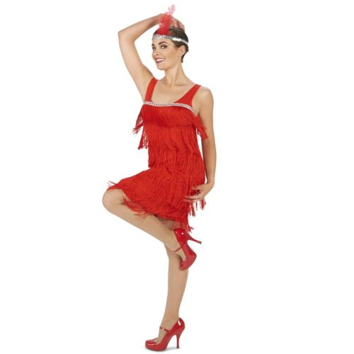 Adult Roaring 20's Red Flapper Costume