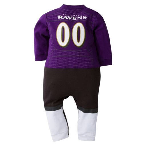 Baby Baltimore Ravens Team Uniform Coverall