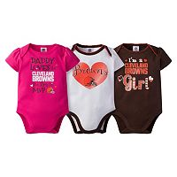 Baby Girl Cleveland Browns 3-Pack Bodysuits
