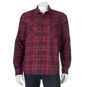 Men's ZeroXposur Classic-Fit Plaid Performance Flannel Button-Down Shirt