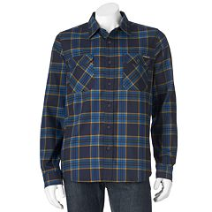 Men's ZeroXposur Classic-Fit Plaid Performance Flannel Button-Down Shirt