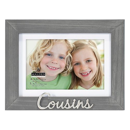 """Cousins"" 4"" x 6"" Distressed Frame"