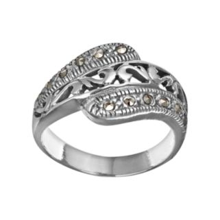 Sterling Silver Marcasite Filigree Ring