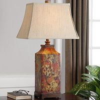 Colorful Floral Table Lamp
