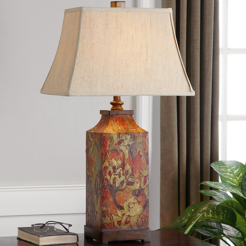 Bon Colorful Floral Table Lamp