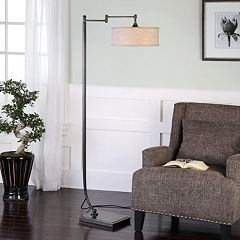 Lamine Pivoting Bronze Finish Floor Lamp
