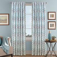 Colordrift Tempest Printed Room Darkening Curtain