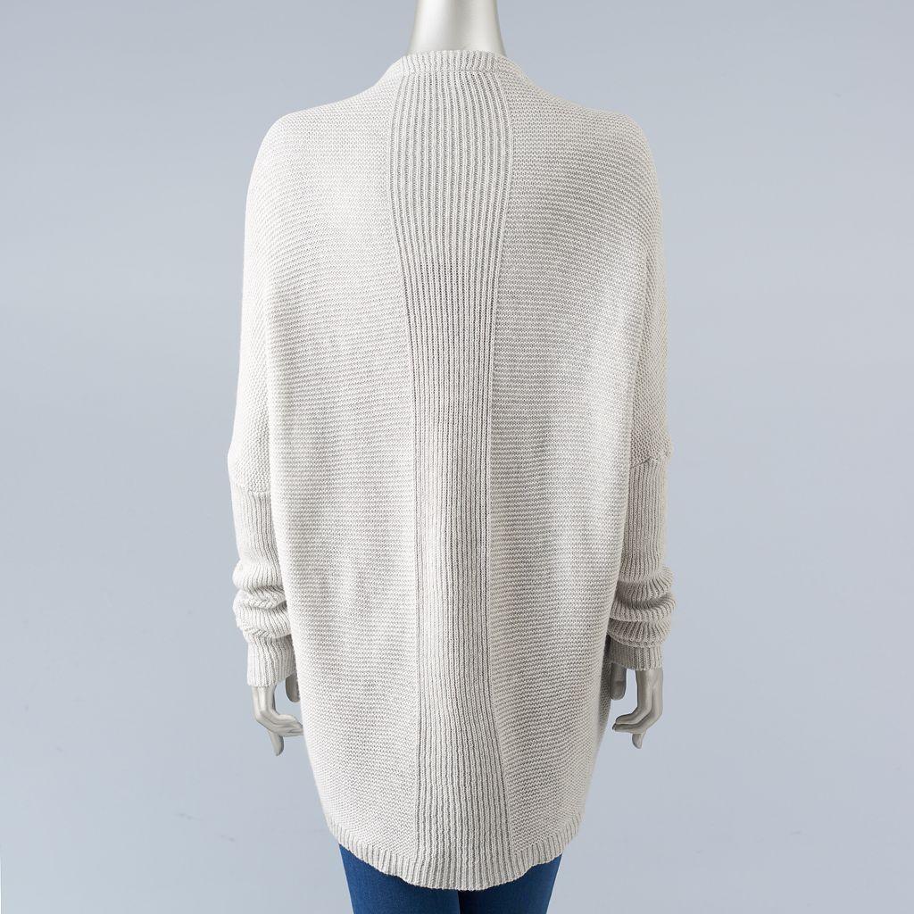 Women's Simply Vera Vera Wang Drop-Shoulder Cardigan