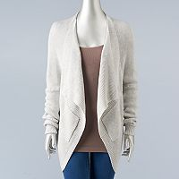 Women's Simply Vera Vera Wang Drop-Shoulder Cardigan