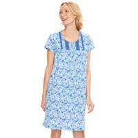 Women's Croft & Barrow® Crochet Knit Nightgown