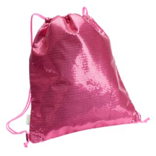 Girls 4-16 Capelli Sequin Drawstring Backpack