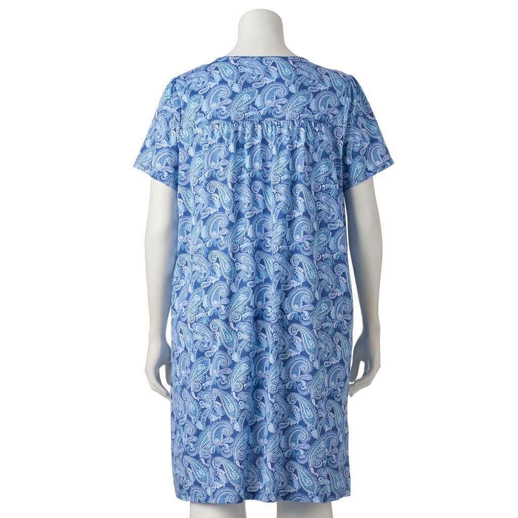Plus Size Croft & Barrow® Crochet Knit Nightgown