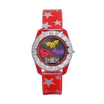 DC Comics Supergirl, Wonder Woman & Batgirl Kids' Digital Watch