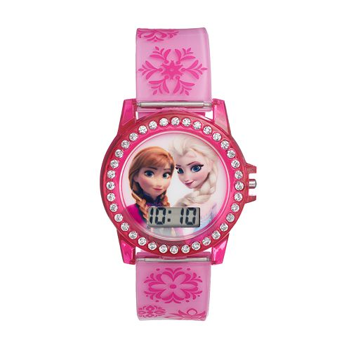 Disney's Frozen Elsa & Anna Kids' Digital Light-Up Watch
