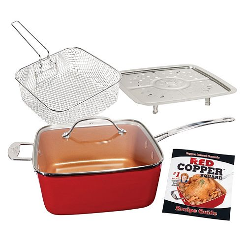 Red Copper 5-pc. Cookware Set As Seen on TV