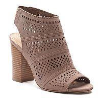 LC Lauren Conrad Women's Cutout Ankle Boots