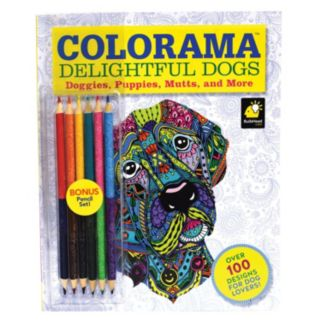 """As Seen on TV Colorama """"Delightful Dogs"""" Coloring Book Set"""