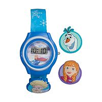 Disney's Frozen Elsa, Anna & Olaf Kids' Digital Charm Watch