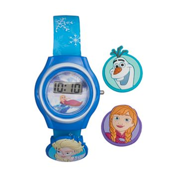 Disney's Frozen Elsa, Anna & Olaf Kids' Digital Charm Watch