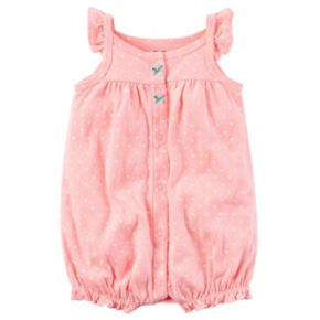 Baby Girl Carter's Polka-Dot Embroidered Octopus Romper