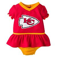 Baby Girls Kansas City Chiefs Dazzle Dress & Diaper Cover Set