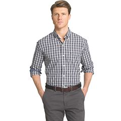 Men's IZOD Advantage Slim-Fit Checked Stretch Button-Down Shirt