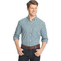 Men's IZOD Advantage Slim-Fit Checked Stretch Button-Down Shirt