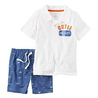 Toddler Boy Carter's Polo Shirt & Poplin Shorts Set