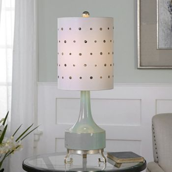 Cayucos capiz shell button table lamp aloadofball Images
