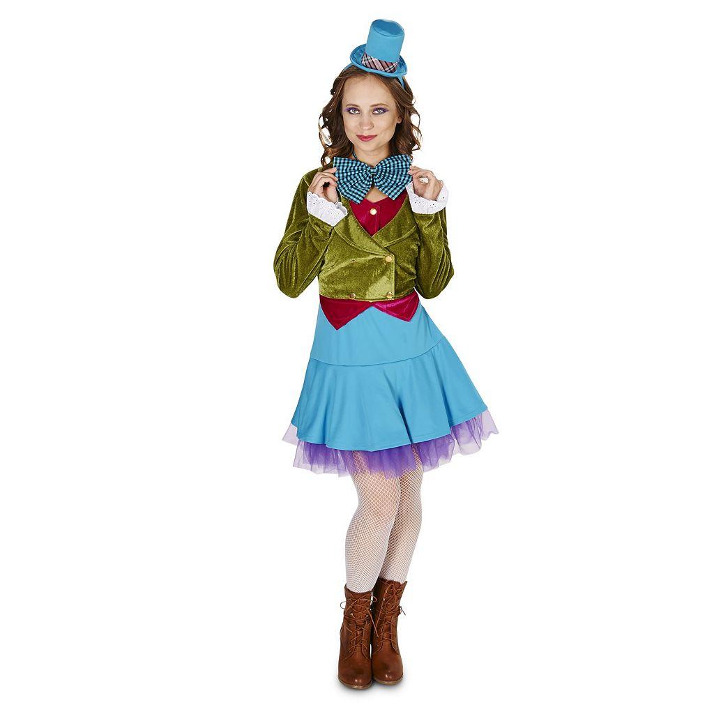 Adult Plus Vivid Mad Hatter Costume