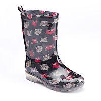 Girls 4-16 Capelli Owl Rain Boots