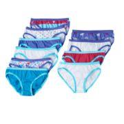 Girls 10-16 Hanes  9-pk. + 1 Bonus Live Love Color Paris Bikini Panties
