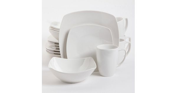 Gibson Home Zen Buffetware 16-pc. Square Dinnerware Set