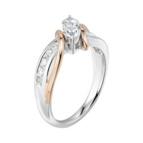 DiamonLuxe7/8 Carat T.W. Simulated Diamond 2-Stone Bypass Ring