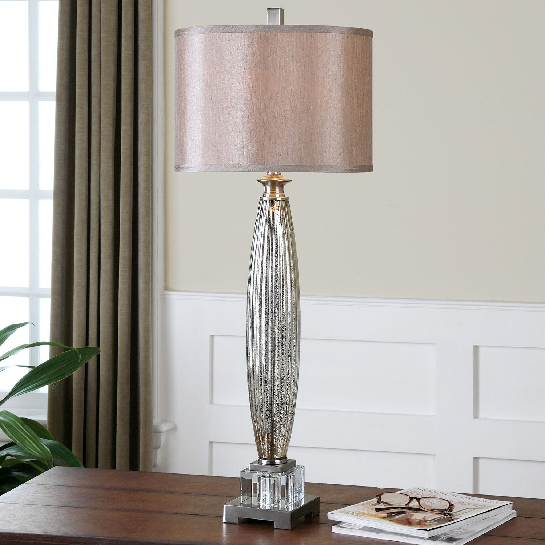 Mercury Glass Buffet Lamp