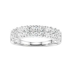 DiamonLuxe 1 1/2 Carat T.W. Simulated Diamond Double Row Ring