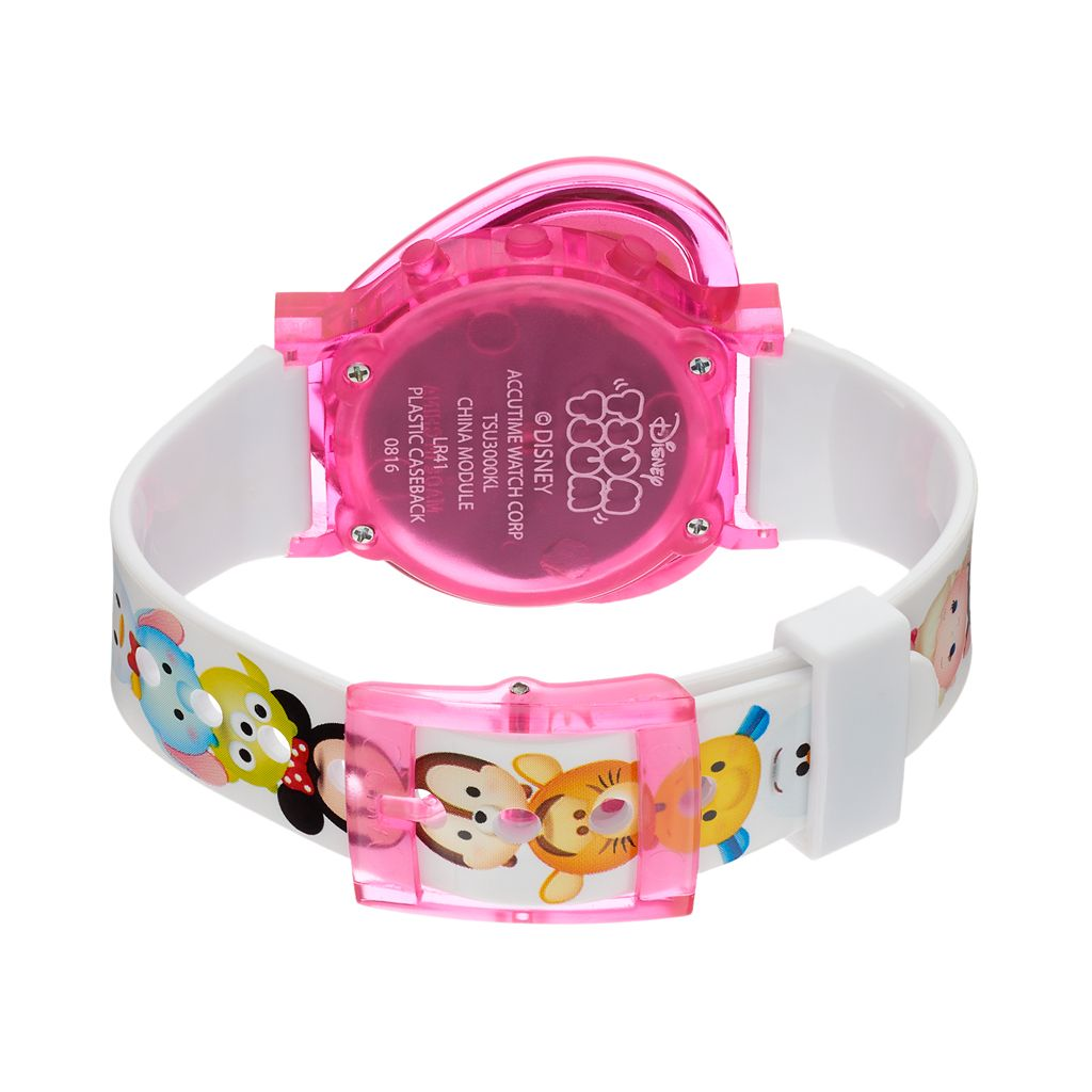 Disney's Tsum Tsum Kids' Heart-Shaped Digital Light-Up Watch