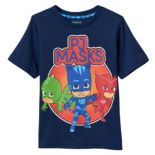 Toddler Boy PJ Masks Catboy, Gekko & Owlette Navy Graphic Tee